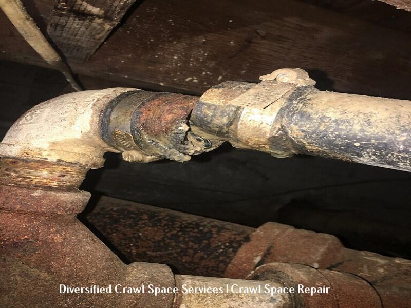 damaged drainage system